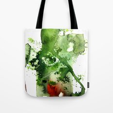 Watercolor Green Tote Bag