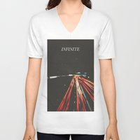 infinite V-neck T-shirts featuring infinite by MrPJ6