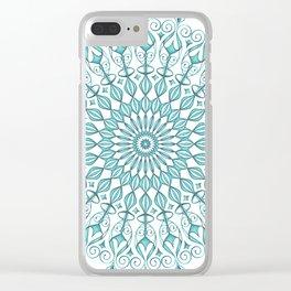 Aqua mandala Clear iPhone Case