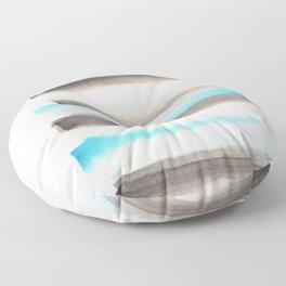 [170105] 1 Color Study Blue|Watercolor Brush Stroke Floor Pillow