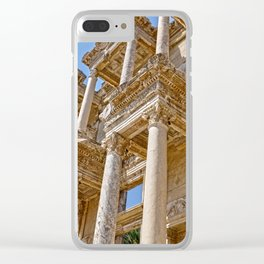 Ancient temple under the summer sky Clear iPhone Case