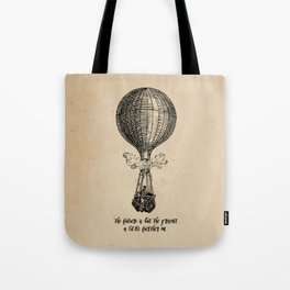 Jules Verne - The future is but the present Tote Bag