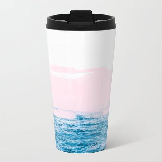 Ocean + Pink #society6 #decor #buyart Metal Travel Mug