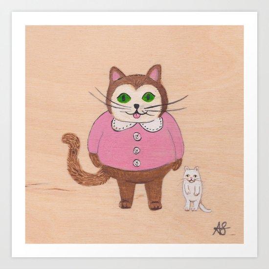 Two Kitties Art Print