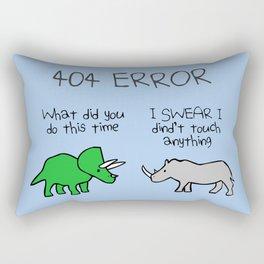 404 Error (Triceratops and Rhino) Rectangular Pillow