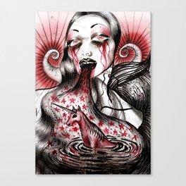 Luce And Unicorn Canvas Print