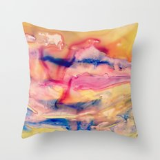 Unicorn Blood and Melted Popsicles Throw Pillow
