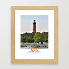 Currituck Beach Light - Outer Banks - North Carolina. Framed Art Print