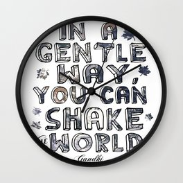 You Can Shake the World II Wall Clock