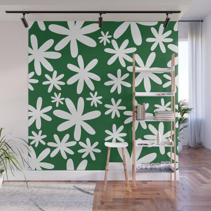 Tiare Flower Green Wall Mural