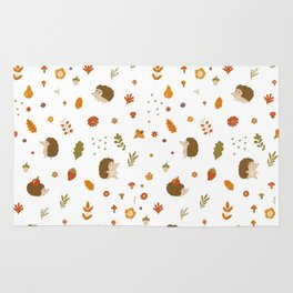 children hedgehog pattern, forest design Rug