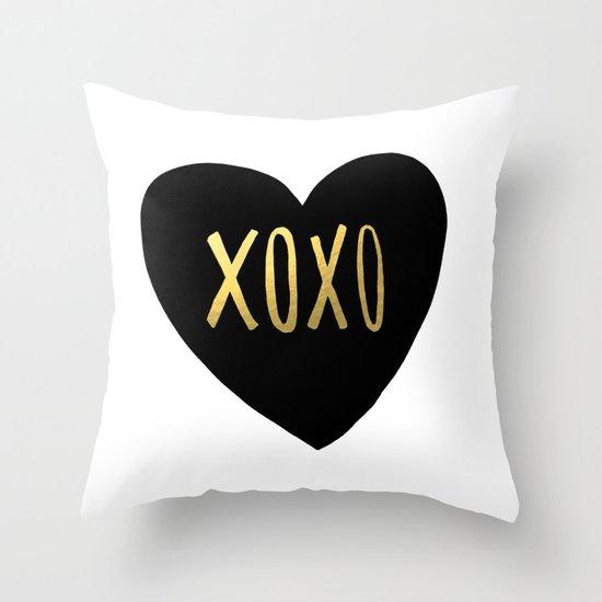 XOXO x Gold Throw Pillow
