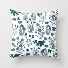 green or blue garden?? Throw Pillow