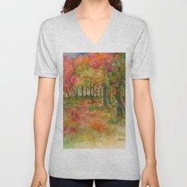 Autumn Woodlands Unisex V-Neck
