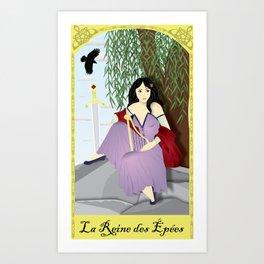 La Reine des Épées Art Print