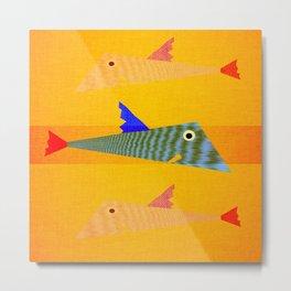tris of fish Metal Print