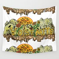 yosemite Wall Tapestries featuring Yosemite  by Geryes