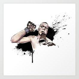 Nate Diaz FOX callout Art Print