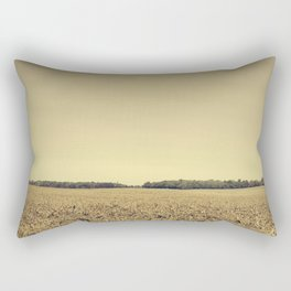 Lonely Field in Brown Rectangular Pillow