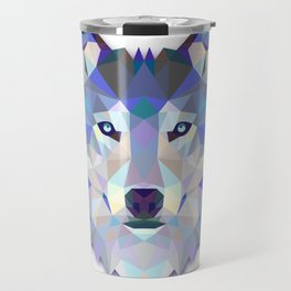 Colorful Wolf Travel Mug