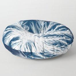 Mycelium in a petri dish Floor Pillow