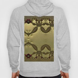 Silky Red and Gold Frieze Hoody