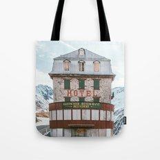 Hotel Belvedere, Switzerland Tote Bag