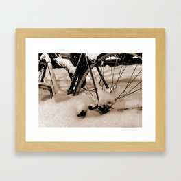 walking Framed Art Print