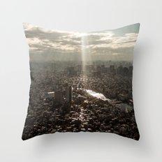 Tokyo View Throw Pillow