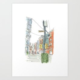 Urban Sketch Art Print