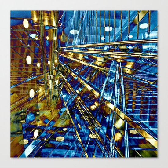 Blue Lines of Berlin Canvas Print