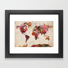 World map Framed Art Print