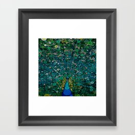 :: Peacock Caper :: Framed Art Print