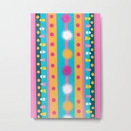 Mexican ,boho style,tribal pattern  Metal Print