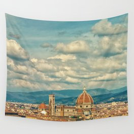 Duomo in Florence Skyline Wall Tapestry