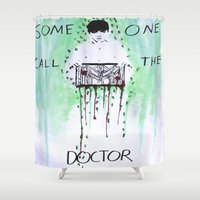 kpop Shower Curtains featuring Paging Doctor Lay by Ahri Tao