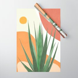Abstract Agave Plant Wrapping Paper