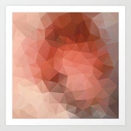 """Chocolate mousse"" geometric design Art Print"