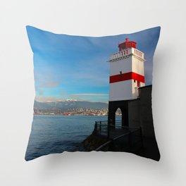 Vancouver Lighthouse Throw Pillow