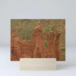 New York Sandstone Cliffs Landscape Konso Ethiopia Africa 4 Mini Art Print