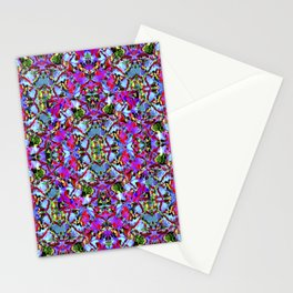 Multicolored Abstract Collage Pattern Stationery Cards