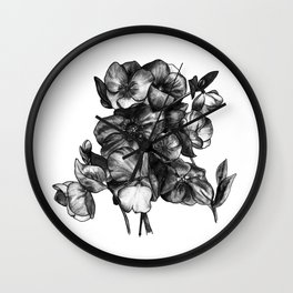 Watercolor Flower Bouquet - Katrina Niswander Wall Clock