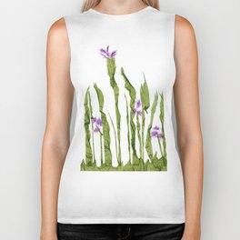 Tall wild flowers Biker Tank