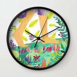 Feel the Earth Wall Clock