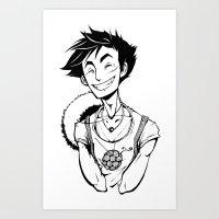 luffy Art Prints featuring Luffy by Ida Dobnik