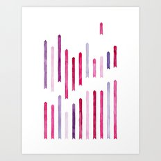 Cotton Candy Arrows Art Print