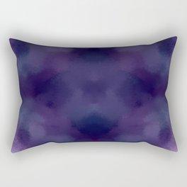 Deep Violet Tie Dye Rectangular Pillow