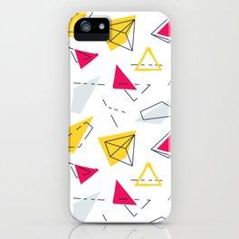 Red yellow geometric iPhone Case