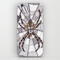 spider iPhone & iPod Skins featuring Spider by Laura Maxwell