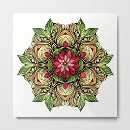 Ornamented Flowers Metal Print